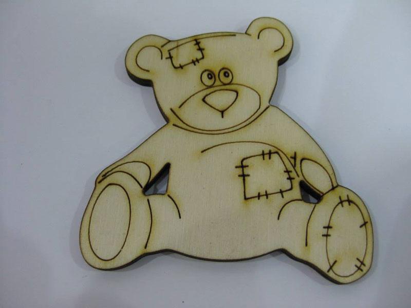 Ξύλινο Διακοσμητικό αρκουδάκι (50048)