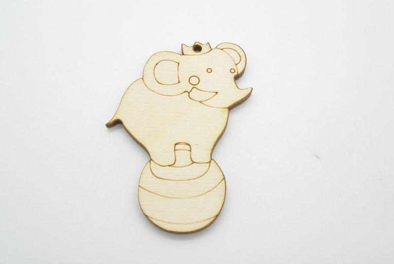 Ξύλινο Διακοσμητικό Ελέφαντας τσίρκου (500391)