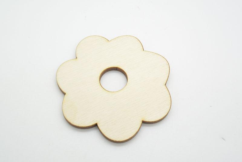 Ξύλινο Διακοσμητικό Λουλούδι τρύπα (500360)