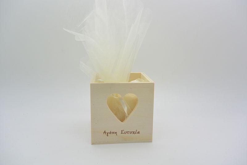 Μπομπονιέρα Γάμου ξύλινο κουτί (853442)