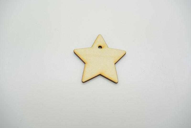 Ξύλινο Μαγνητάκι αστέρι (990065)