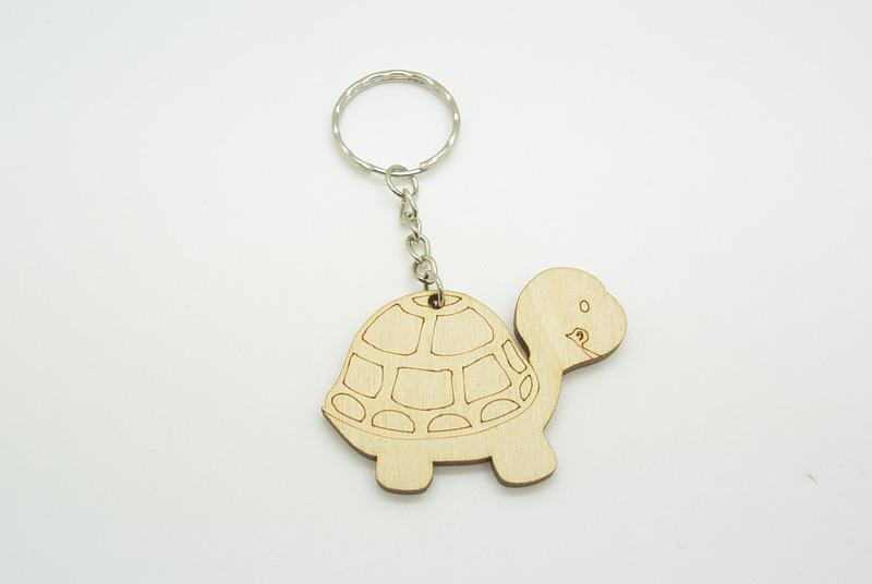 Ξύλινο Μπρελόκ χελώνα (600063)