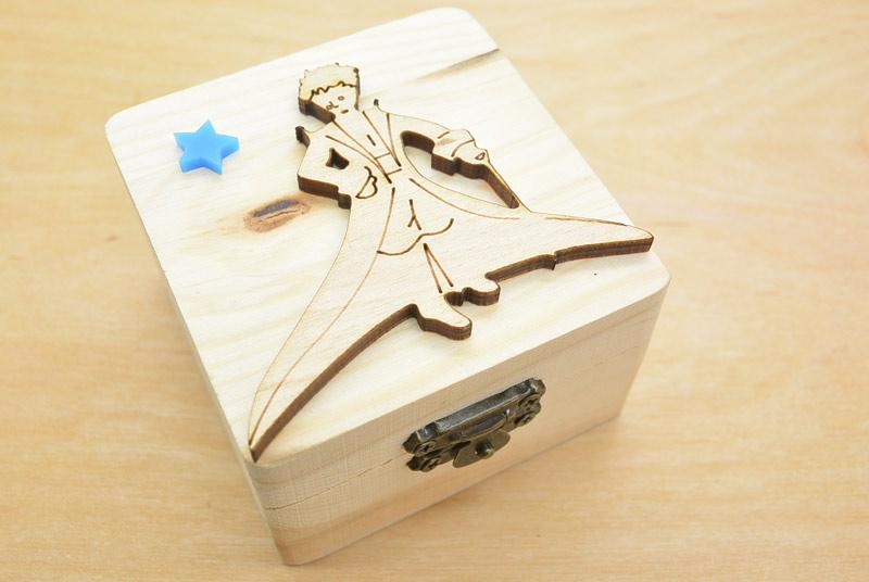 Μπομπονιέρα Ξύλινο κουτί μικρός πρίγκιπας (152023)