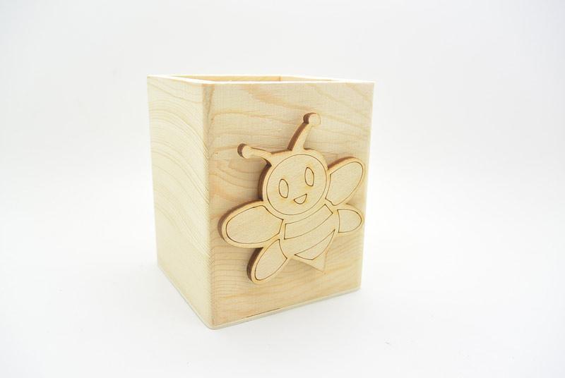 Μπομπονιέρα Ξύλινη Μολυβοθήκη μέλισσα (152102)