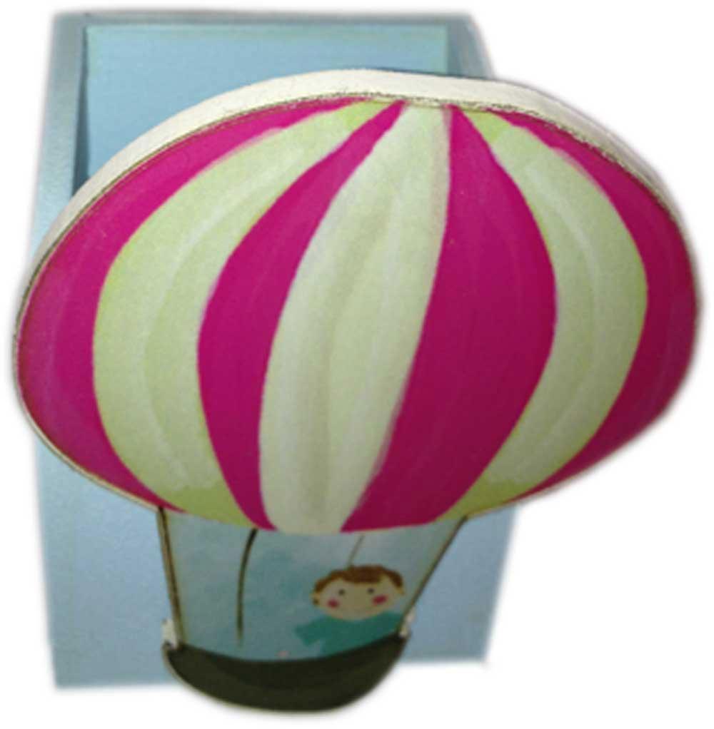 Ξύλινη Μολυβοθήκη αερόστατο (pencase011)