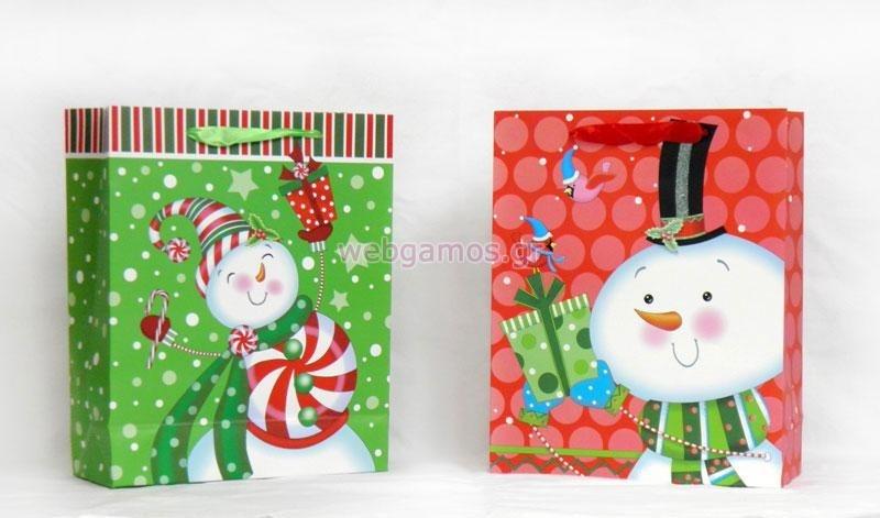 5fcc8744628 Τσάντα Δώρου χριστουγεννιάτικη (0402066)